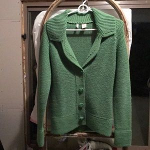 MOTH size small green knit sweater